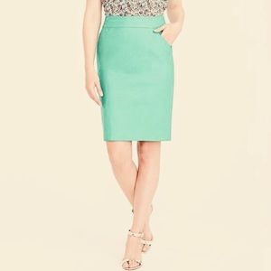 J. Crew Factory Skirts - J Crew Size 8 Solid Mint The Pencil Skirt